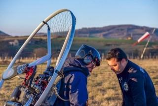 Premier décollage à pied en paramoteur pour mon élève Philippe